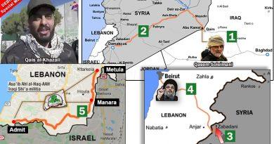 מסעו של קאיס אל חאזאלי ראש המליציה השיעית העיראקית אסאיב אל-חאק בסוריה ולאורך גבול ישראל. כך פועל הגשר היבשתי האיראני