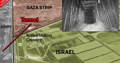 """צה""""ל: המנהרה שהותקפה  היא מנהרת טרור של חמאס  שנחפרה מתחת למעבר כרם שלום וחדרה למצרים.  שלוש הברירות של החמאס"""