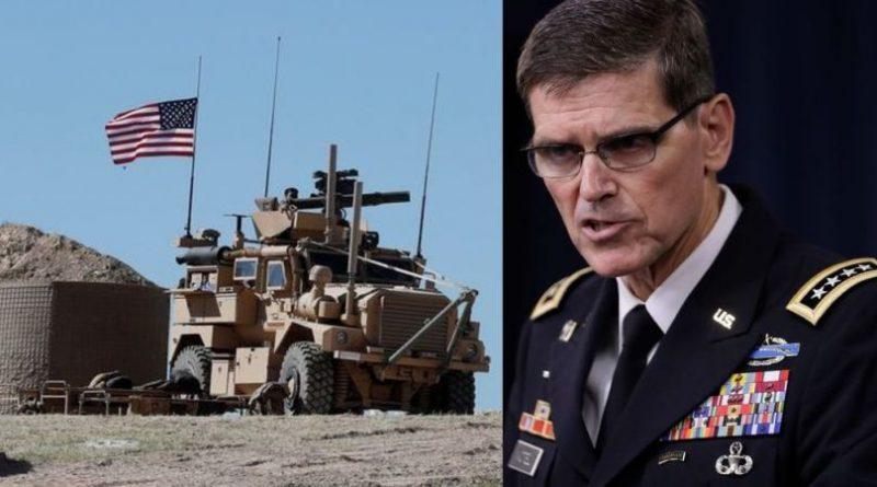חילוקי דעות בין הצמרות המדיניות והצבאיות בישראל ובין מפקד חזית מרכז CENTCOM הגנרל ווטאל לגבי הנסיגה של הצבא האמריקני מסוריה