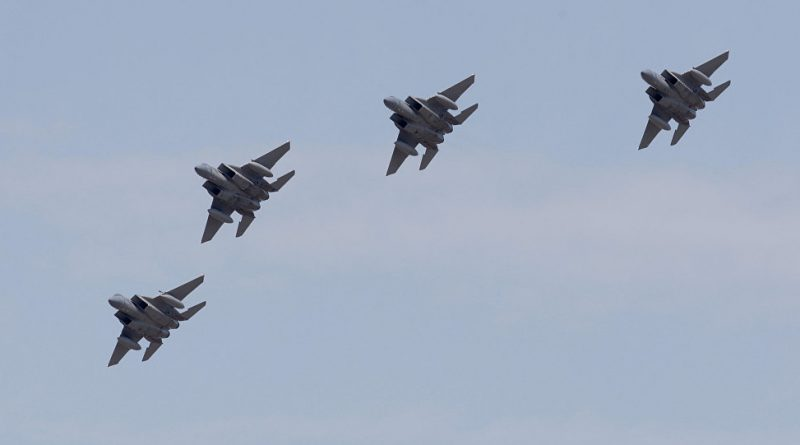 """ארה""""ב: מקווים כי רוסיה תאפשר לישראל להמשיך לתקוף בסוריה. F-15-ISRAEL-Attack-17.4.18-800x445"""