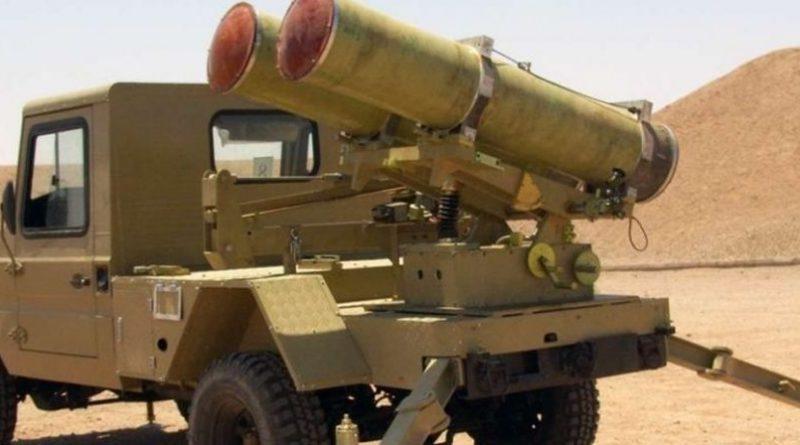 """הופעתו של הטיל-הרקטה הארטילרית האיראנית פאלאק Falaq-2 בעוטף עזה. קוטר: 333 מ""""מ. טווח: 11 ק""""מ. מיועד לפגוע בסוללות 'כיפת ברזל'"""