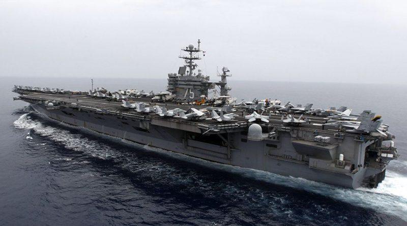 נושאת המטוסים הגרעינית האמריקנית טרומן USS Harry S. Truman, מלווה ב-5 אניות מלחמה נושאות טילים מונחים הוצבו מול חופי סוריה