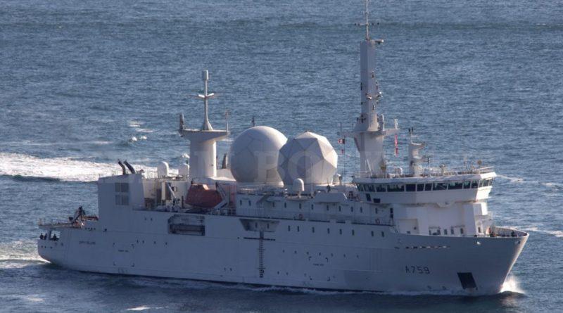 צרפת הציבה את אניית המודיעין 'דיופיי דה לום' Dupuy de Lome מול סוריה Dupuy-de-Lome-signal-intelligence-Syria-22.11.18-800x445