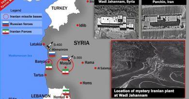 איראן מקימה מפעל לטילים מדויקים בוואדי ג'יהנום ליד באניס הדומה למתקן הגרעיני האיראני בפורדו. 2 מפעלים מוקמים ליד הרמל בלבנון