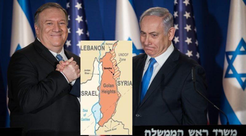 ההכרה בריבונות הישראלית על רמת הגולן, היא התגובה האמריקנית על הצעדים הראשונים של איראן לספח את לבנון לסוריה