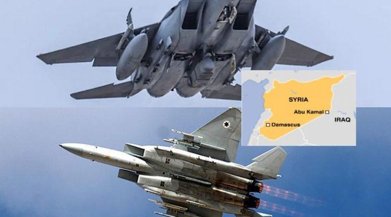 """חיילות האוויר של ישראל וסעודיה תוקפים ביחד את המערך הצבא האיראני באבו קאמאל. ארה""""ב מספקת מטרייה אווירית ומודיעין"""