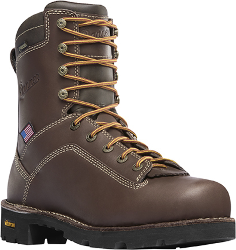 """Danner 8"""" Quarry USA Safety Toe Brown 17307"""