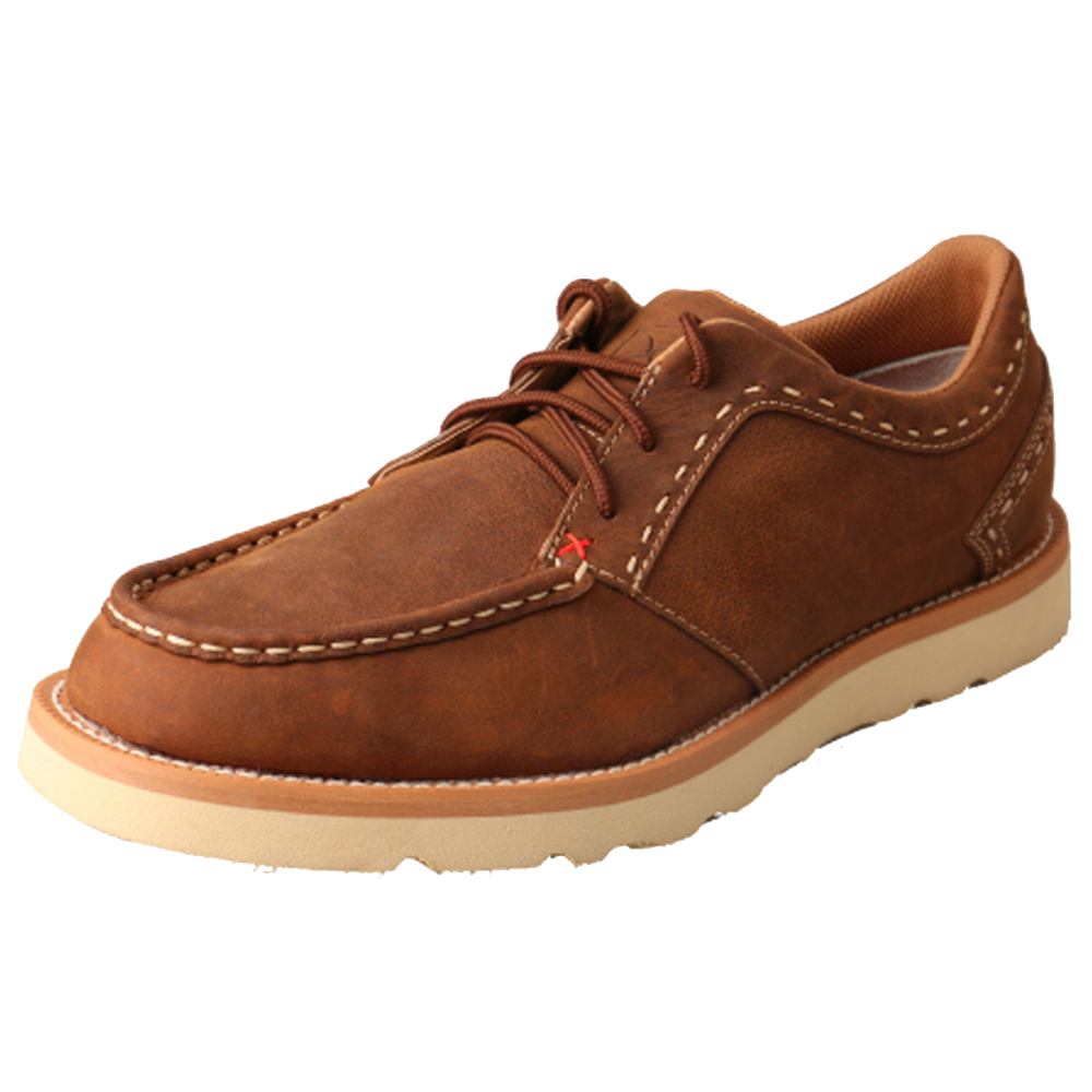 Twisted X Men's Casual Lace Up - Oiled Saddle