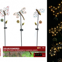 Solar Insect Garden Stakes - Assorted