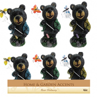 Bear W Net Statuary - Assorted