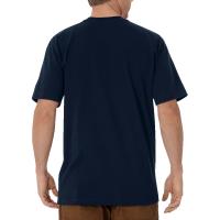 Men's Short Sleeve Heavyweight Crew Neck Tee (Dark Navy, Medium)