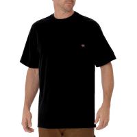 Men's Short Sleeve Heavyweight Crew Neck Tee (Black, Medium)