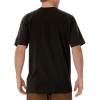 Men's Short Sleeve Heavyweight Crew Neck Tee (Black Olive, Medium)