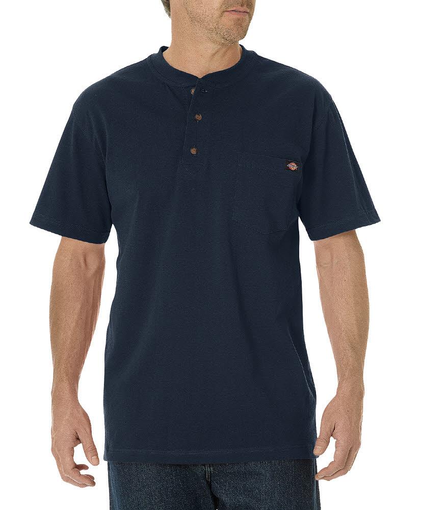 Dickies Men's Short Sleeve Henley Dark Navy WS451DN