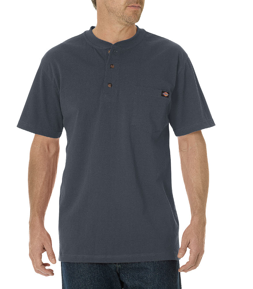 Dickies Men's Short Sleeve Henley Charcoal WS451CH