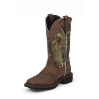 Justin 12-inch tall Raya Camo Gypsy™ Women's cowboy boot. L9609