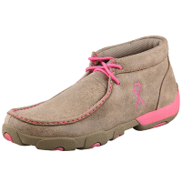 Twisted X Women's Driving Moccasin - Dusty Tan & Pink