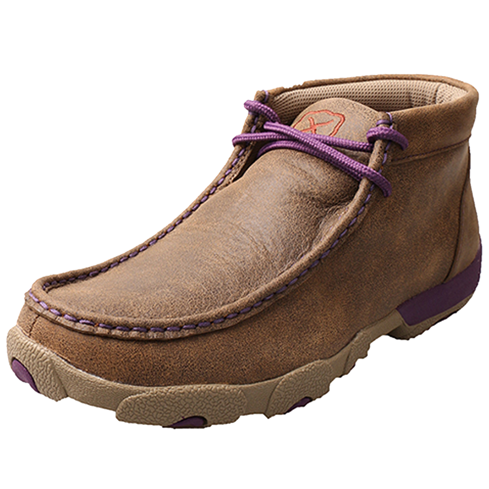 Twisted X Women's Driving Moccasin - Bomber & Purple