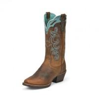 Justin Sevana Tan 12-inch tall Women's cowboy boots SVL7311