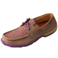 Twisted X Women's Lo Driving Moccasins - Bomber & Purple