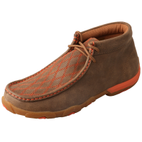 Twisted X Women's Driving Moccasin - Bomber & Orange