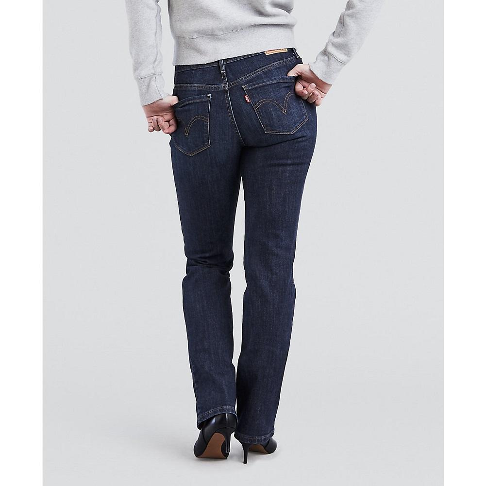 Levi's Women's 505 Straight Leg Jeans Sleek Blue 15505-0111