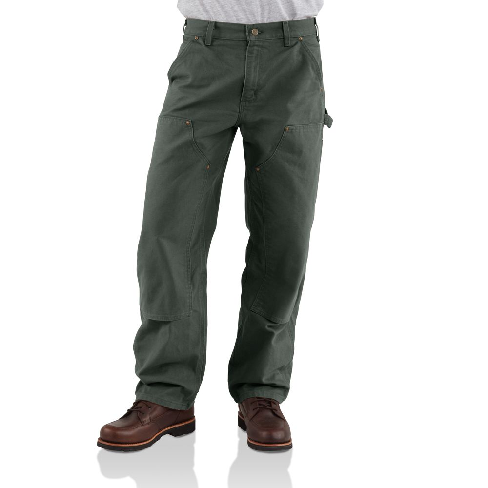 Carhartt Washed Duck Double Front Work Dungaree B136MOS