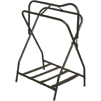 Folding Saddle Rack Black