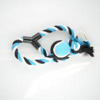 Zanies Tennis Toss Blue Dog Toy