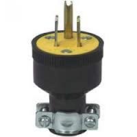 Blk Rubber Ground 3wire Plug10