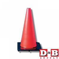 18in Traffic Cone Flor Orange