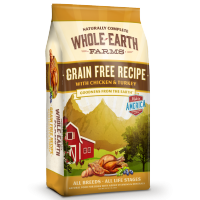 Merrick Whole Earth Farms Grain Free Chicken and Turkey Recipe dry dog food 25lb