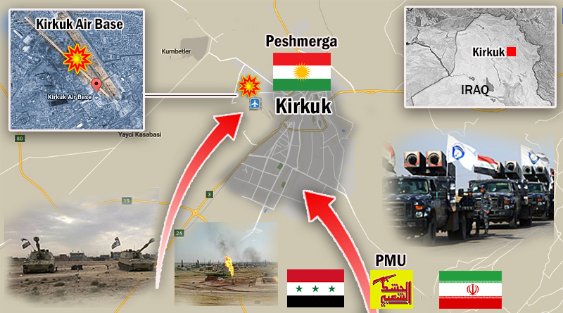 Iran and Iraq go to war with the Kurds over Kirkuk. Rev Guards take part in defiance of US