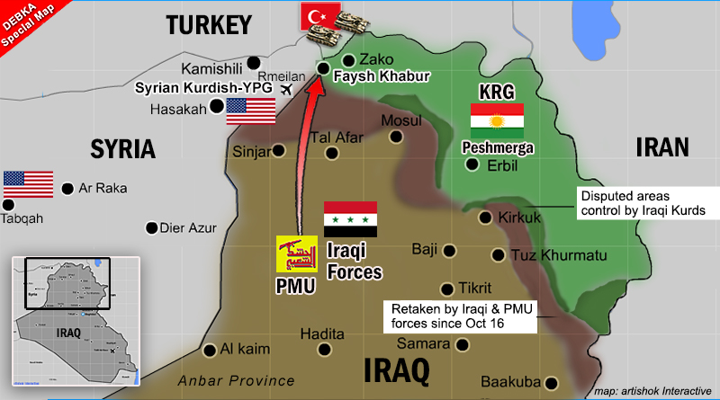 Key Kurdish-held border crossing falls to Iranian control, cuts US army land supply line to Syria