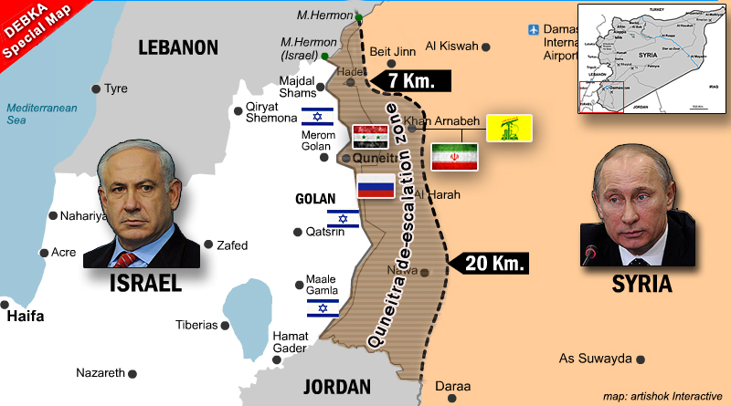 No headway in Putin-Netanyahu conversation on Iran/Hizballah removal from Golan border