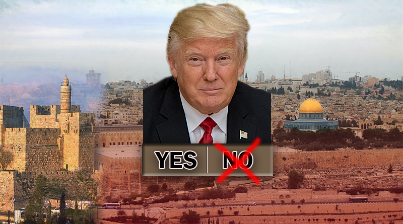 Trump is first US president to recognize Jerusalem as Israel's capital. He ordered State to build new US embassy in Jerusalem