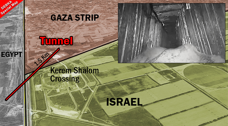 Israeli jets strike third Palestinian terror tunnel