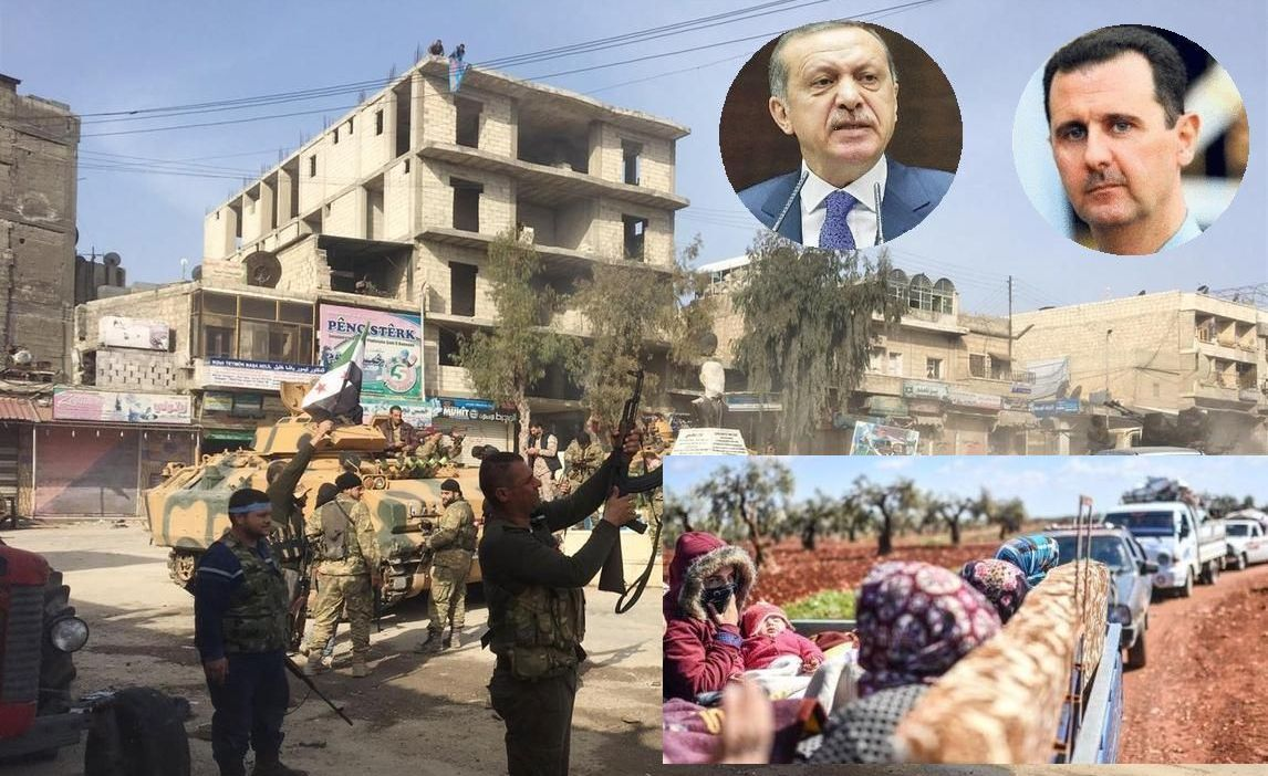 Quarter million new Syrian refugees. Turks take Afrin city. Al Ghouta about to fall to Assad