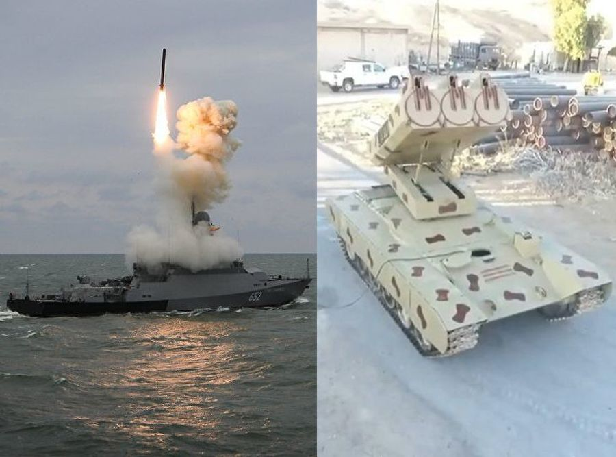 Russian heavy Golan-1000 rocket launchers for Assad, Kalibr cruise missiles off shore