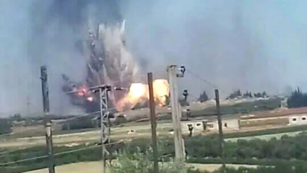 Exclusive: A ground force caused big explosion at Hama air base with 8 missiles