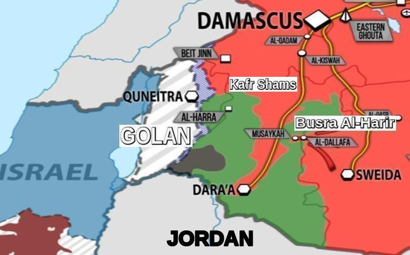 Syrian army takes two rebel-held strategic points on way to Golan and Daraa