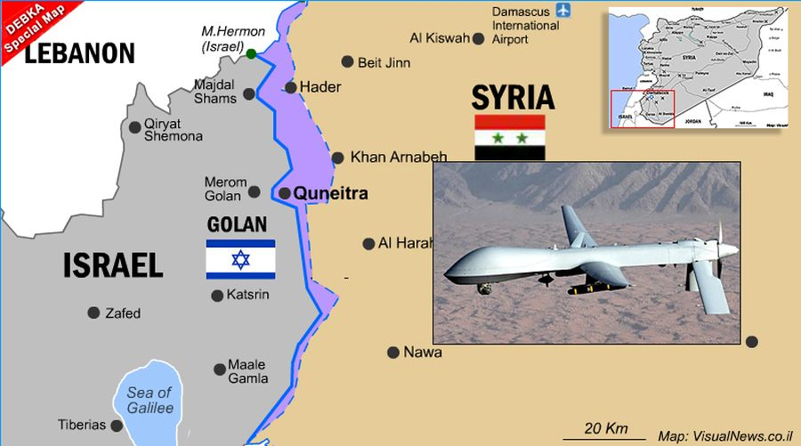Quneitra falls to Syrian army. Damascus: 1974 accord permits Syrian air flights over Israel's Golan border