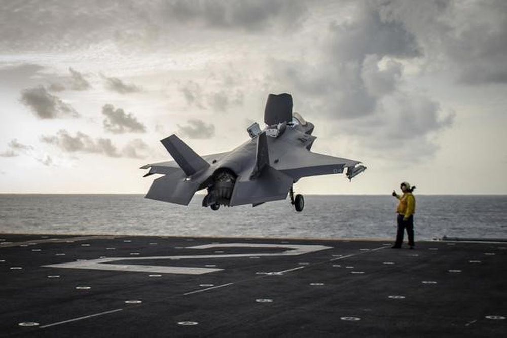 First US F-35 planes deployed to Gulf & Red Sea. Marines drill unblocking Hormuz and Mandeb