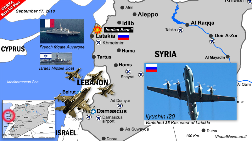 Russia accuses Israel of pushing its missing spy plane into Syrian line of fire