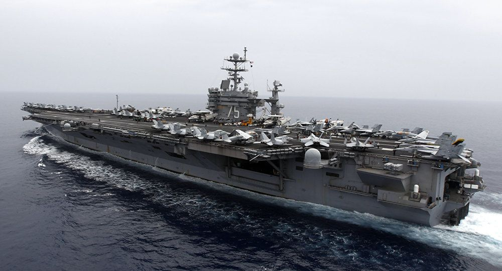 USS Truman carrier and strike force bound for waters off Syria amid Russian naval buildup