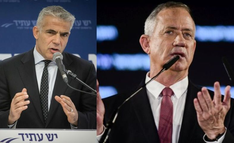 Gantz, Lapid, Ashkenazi set up joint list for Knesset election