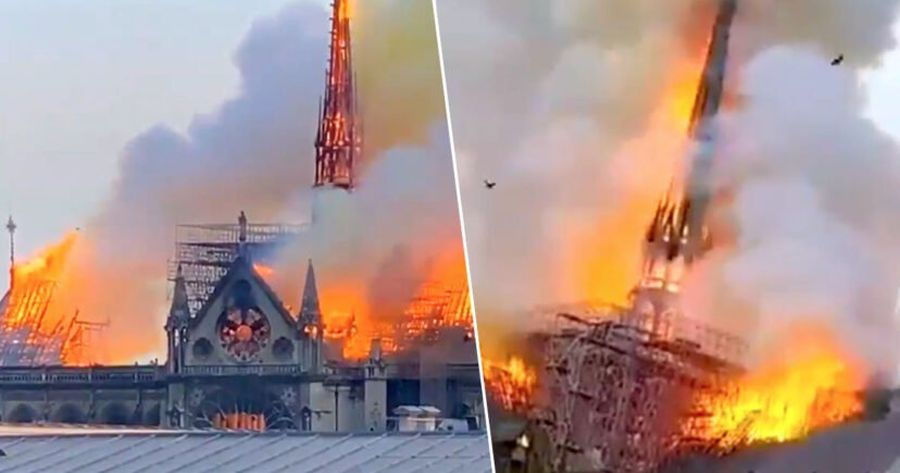 Notre Dame fire under control. Medieval wooden interior, priceless art lost