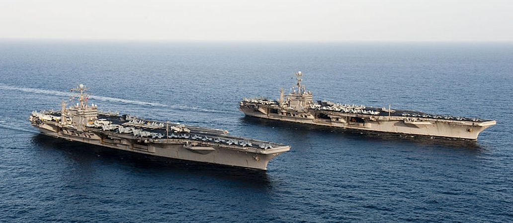 US deploys two carrier strike groups in Mediterranean – first time since 2016