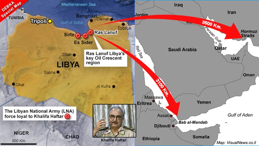 The contest over the Strait of Hormuz's closure has begun at… Libya's Ras Lanuf