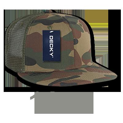 d0ed1090f2ac2 1055 - Camo FLAT Bill Trucker Caps